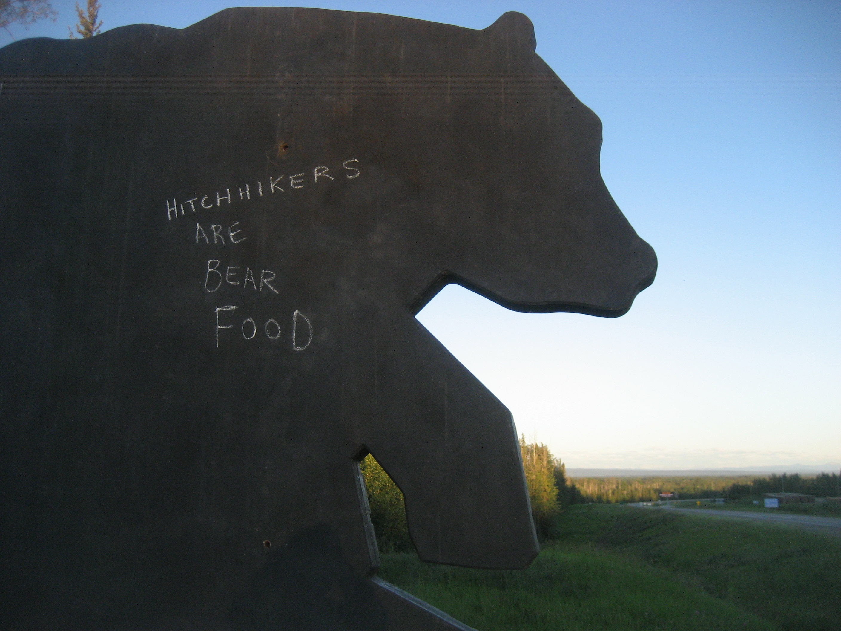 Hitchhikers are Bear Food